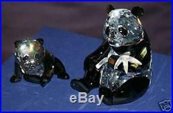 Swarovski Yearly Scs Piece Pandas-retired 2008-not Mint-read Description