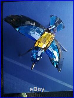Swarovski crystal Blue Roller bird With BOX and COA