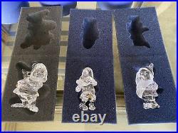 Swarovski crystal Disney Snow White & the 7 Dwarfs Doc, Bashful, Sneezy MIB