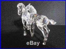 Swarovski crystal figurine Foals playing MIB COA Retired