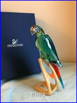 Swarovski crystal figurines Macaw. Multicolored crystal with sparkling chrome