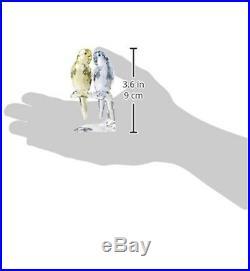 Swarovski crystal figurines birds. Budgies new In box