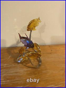 Swarovski crystal figurines fish, Sea Goldies, Topaz