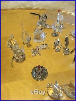Swarovski crystal figurines lot 25 pieces