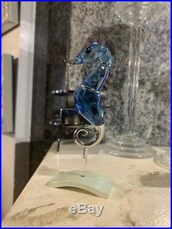 Swarovski crystal figurines seahorse