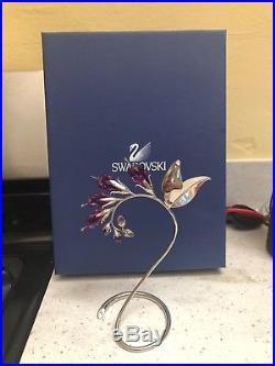Swarovski dacea crystal paradise flower silver stand