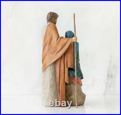 The Holy Family Figure Sculpture Hand Painting Willow Tree By Susan Lordi 7.5