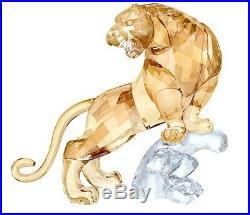 Tiger Asian Symbols Golden And Clear Crystal 2018 Swarovski Crystal 5301559