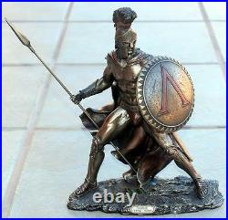 VERONESE ART GREEK SPARTAN KING LEONIDAS Spear Shield STATUE FIGURE FIGURINE New