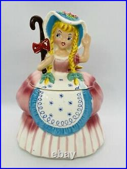 Vintage 1950s Napco Little Bo Peep Ceramic Cookie Jar Nursery Rhyme Series
