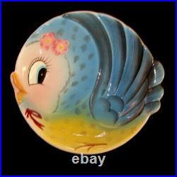 Vintage Lefton Bluebird Bowl Blue Bird of Happiness
