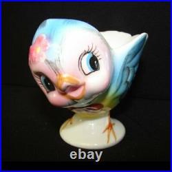 Vintage Lefton Bluebird Egg Cup Blue Bird of Happiness