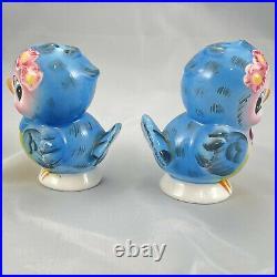 Vintage Lefton Bluebird Salt and Pepper Shakers Blue Bird 1950s Anthropomorphic