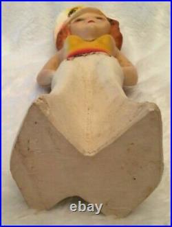 Vintage Mae West Sailor Chalkware Carnival Statue Amusement Park Fair Prize