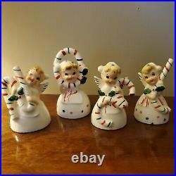 Vintage Wales Christmas NOEL Angel Girl Bell Set Japan