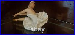 Vintage Wallendorf Porcelain Ballerina Sitting & Stretching- Excellent Condition