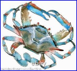 Wall Art Blue Crab Metal Wall Sculpture Nautical Decor Free Shipping