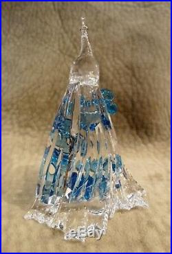 White Peacock Swarovski Crystal Figurine 5063695, Mib, Scs, Blue Flowers