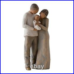Willow Tree Parents with Son Daughter and Baby Figurine Set Family Group