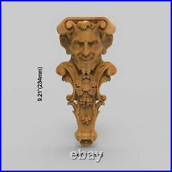 Wood Carved Corbel Gothic Door Stairs Wall French Victorian Fireplace Applique